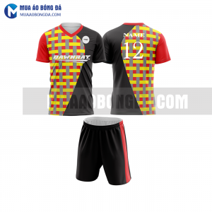 Áo bóng đá màu đỏ thiết kế đẹp tại bạc liêu MABD21