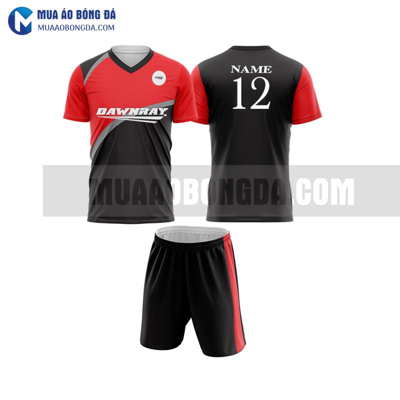 Áo bóng đá màu đỏ thiết kế đẹp tại hà nam MABD34