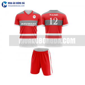 Áo bóng đá màu đỏ thiết kế đẹp tại hà tĩnh MABD8