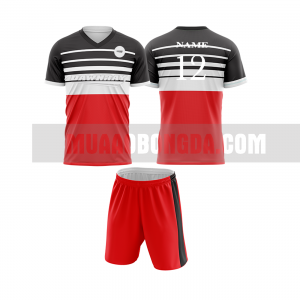Áo bóng đá màu đỏ thiết kế đẹp tại hải dương MABD3