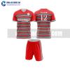 Áo bóng đá màu đỏ thiết kế đẹp tại hải phòng MABD23