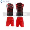 Áo bóng đá màu đỏ thiết kế đẹp tại phú yên MABD40