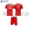 Áo bóng đá màu đỏ thiết kế đẹp tại quảng ninh MABD9