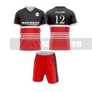 Áo bóng đá màu đỏ thiết kế đẹp tại quảng trị MABD2