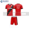 Áo bóng đá màu đỏ thiết kế đẹp tại sơn la MABD25