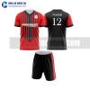Áo bóng đá màu đỏ thiết kế đẹp tại thái nguyên MABD33
