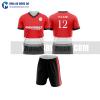Áo bóng đá màu đỏ thiết kế đẹp tại trà vinh MABD14