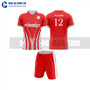 Áo bóng đá màu đỏ thiết kế đẹp tại tuyên quang MABD5