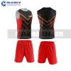 Áo bóng đá màu đỏ thiết kế đẹp tại vĩnh long MABD37