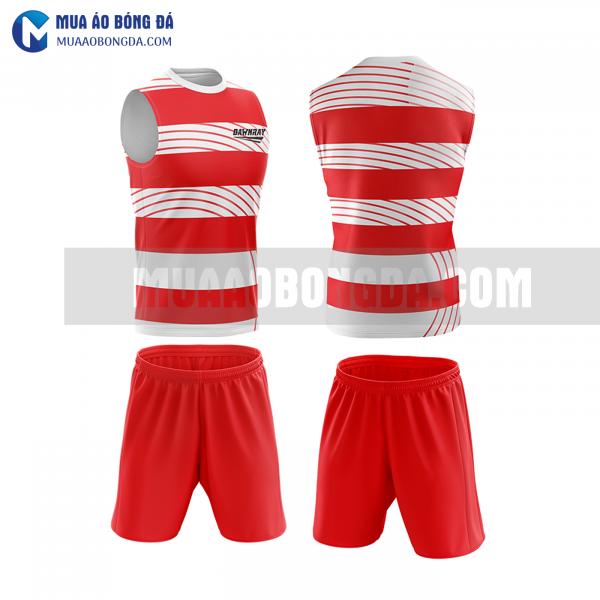 Áo bóng đá màu đỏ thiết kế đẹp tại vĩnh phúc MABD38