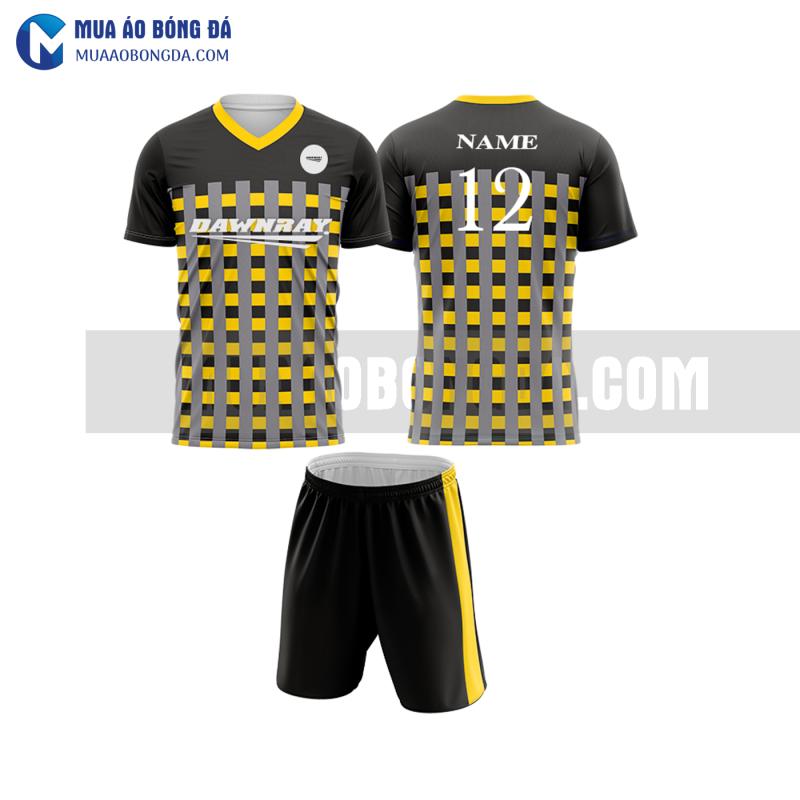 Áo bóng đá màu vàng thiết kế đẹp tại hưng yên MABD22
