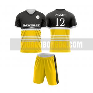 Áo bóng đá màu vàng thiết kế đẹp tại quảng trị MABD2
