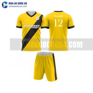 Áo bóng đá màu vàng thiết kế đẹp tại sơn la MABD25