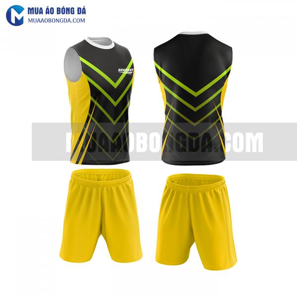 Áo bóng đá màu vàng thiết kế đẹp tại vĩnh long MABD37